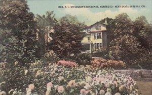 Mrs R L Stevensons Residence Montecto Santa Barbara California