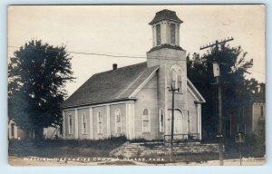 RPPC  OLATHE, Kansas KS ~ Wesleyan? METHODIST CHURCH  c1910s Postcard