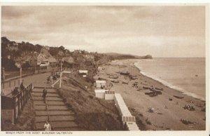 Devon Postcard - Beach from The West - Budleigh Salterton - Ref 8608A