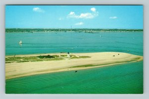 Cape Cod MA-Massachusetts, Aerial View Of Long Point Lighthouse, Chrome Postcard