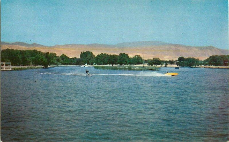 Postcard Water Skiing At Hart Memorial Park, Bakersfield, CA