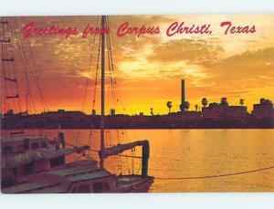 Pre-1980 GREETINGS FROM POSTCARD Corpus Christi Texas TX ho5676