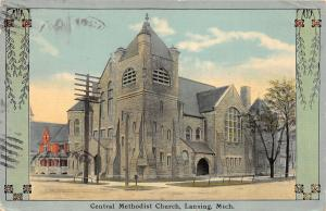 Lansing Michigan~Central Methodist Episcopal Church~Stone Bldg & Arched Door~'12