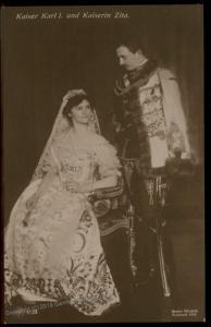 Austria WWI Kaiser Karl I  and Empress Zita RPPC 91423