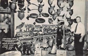 Lena WI Hunters & Fishermans Tavern Stuffed Animals RPPC Postcard