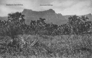 German East Africa Tanzania, D-O-Afrika, Usambara-Gebirge Mountains, Postcard