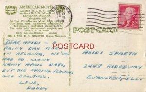 1958 AMERICAN MOTEL on US 41 KENTLAND, IN. Mr & Mrs E G Goyette, Owner