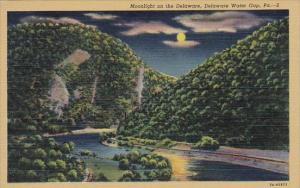 Moonlight On The Delware Water Water Gap Pennsylvania