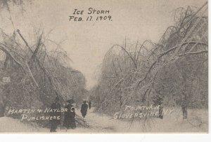 GLOVERSVILLE , New York , 1909 ; Ice Storm
