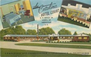 1940s Catalina Hotel Court roadside Greenville South Carolina Teich 6346