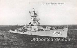 US Atlantic Fleet Postcard Post Card USS Courtney DE1021