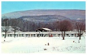Vermont  Shaftsbury , Iron Kettle Motel , Snow Covered
