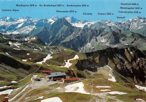 Nebelhorn Bergstation Gesamtansicht Mountains Silvretta Verwall Marchspitze