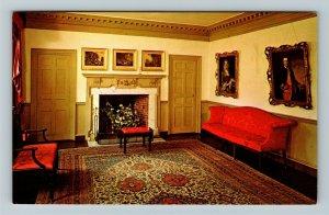 Portsmouth NH- New Hampshire, Parlor, Moffatt-Ladd House, Chrome Postcard