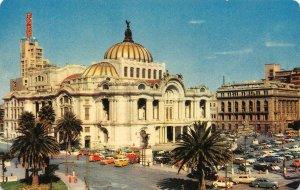 Palacio De Las Bellas Artes Mexico D.F. Palace of Fine Arts Vintage Postcard