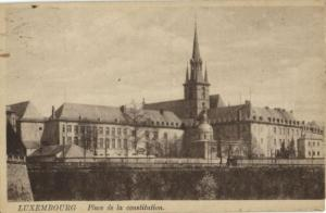 CPA Luxembourg Place de la constitution (30653)