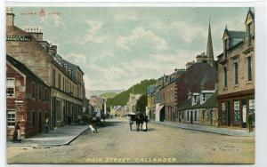Main Street Callander Scotland UK 1910c postcard