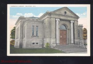 DECATUR ALABAMA CARNEGIE LIBRARY ANTIQUE VINTAGE POSTCARD