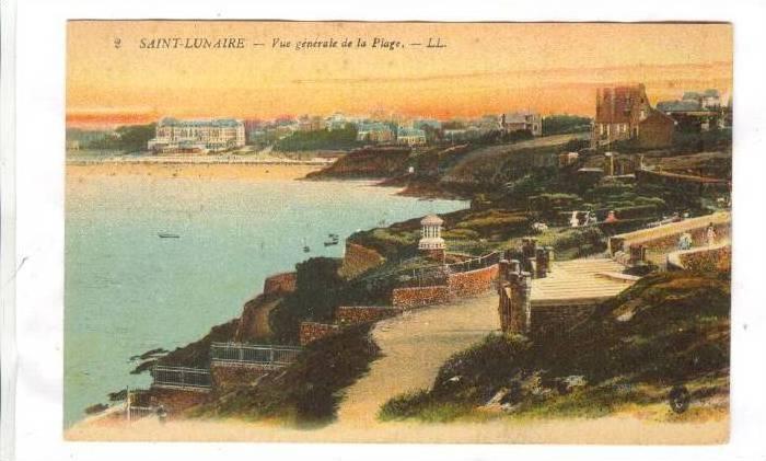 Vue Generale De La Plage, Saint-Lunaire (Ille-et-Vilaine), France, 1900-1910s