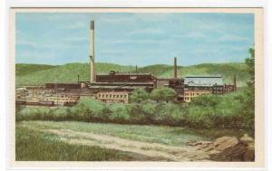Zinc Smelter Joseph Lead Josephtown PA P&LE railroad artist Howard Fogg postcard