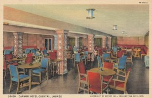YELLOWSTONE PARK, Wyoming, 1930-40s; Canyon Hotel Cocktail Lounge