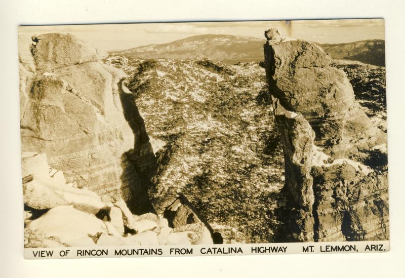 Tucson, Arizona/AZ Postcard,View Of Rincon Mountains From Highway, Mt Lemmon