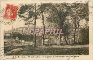 Old Postcard Angouleme General view taken of Saint Martin Wood