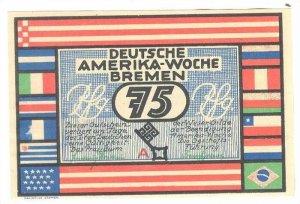 Deutsche Amerika-Woche Bremen Ocean Liner Coupon , 1923
