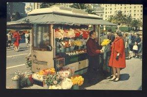 San Francisco, California/CA Postcard, Street Flower Vendors