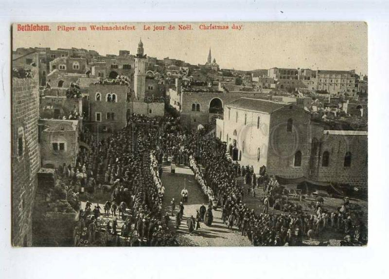 233028 Palestine BETHLEHEM Christmas Day Vintage postcard