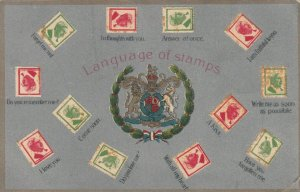 Language of Stamps, Coat of Arms, 12 Stamps, 1900-10s