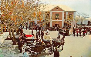 Peppercorn Ceremony at Market Square St George's Bermuda Island 1972