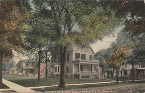 Corner of State and Clinton Streets - Albion NY, New York - pm 1911 - DB