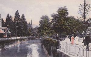 Baden-Baden, Partie an der Ooos beim englischen Hof, Baden-Wurttemberg, Germa...