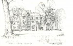 Glenside Pennsylvania~The Castle~Beaver College~1970s Postcard~Artist
