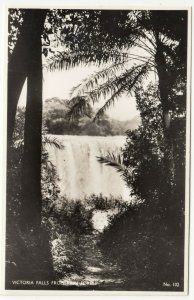 Zambia; Victoria Falls From Rain Forest, 102 RP PPC, By Salmon, Unused, c 1930's