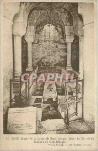 Old Postcard Dijon Crypt of St. Cath�drale B�nigue