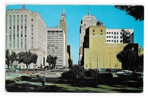 Oklahoma City OK View East on Park Street Posted 1960 Vintage Postcard