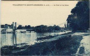 CPA VILLENEUVE-St-GEORGES - le pont et la seine (145640)