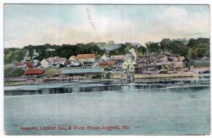 Augusta, Me, Augusta Lumber Co. & River Front