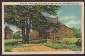 Berry and Lincoln Store,New Salem State Park,IL Postcard