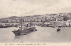 ALGER.-Panorama et Transatlantique dans le Port, 1900-10s