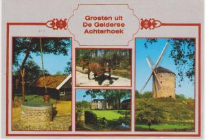 GREETINGS FROM ACHTERHOEK, WELL, WINDMILL, HOLLAND