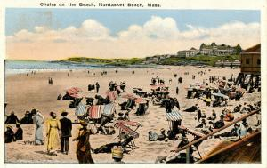 MA - Nantasket Beach. Chairs on the Beach