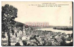 Old Postcard Caudebec cuaX In The City And The Seine