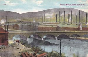 JOHNSTOWN, Pennsylvania, 1900-1910's; Stone Bridge