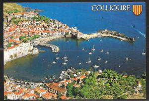 Collioure, France, harbor, writing on back, not mailed