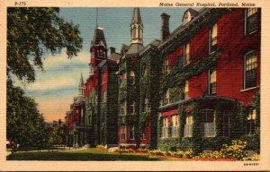Maine Portland Maine General Hospital Curteich