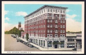 Hotel Jefferson Columbia SC unused c1920's
