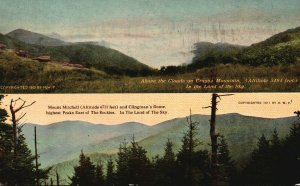 Vintage Postcard 1913 Above the Clouds Craggo Mountain Mount Mitchell Colorado
